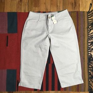 Eddie Bauer Blakely Printed Cropped Pants Sz 6 NWT